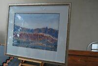 Lg Watercolour painting by Otto Pareroultja Aboriginal artist Hermannsburg c1955