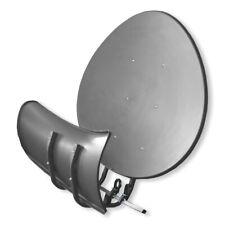 Satspiegel Toroidal T55 P - dunkelgrau - Multifocus Antenne - inkl 5x LNB Halter