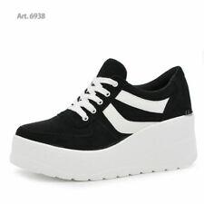 Scarpe Da Donna Ginnastica Sportive Sneaker Zeppa Para Platform Nuova COLLEZIONE