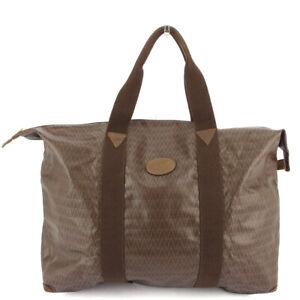 MARIO VALENTINO Tote bag MV mark PVC �~ leather Auth used C3921