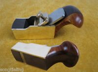 "1pcs flat bottom brass wrap blackwood planes 1 3/8"" woodworking small plane"