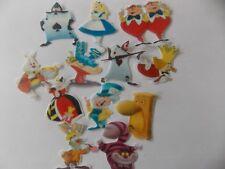 12 PRECUT Edible Alice in Wonderland wafer/rice paper cake/cupcake toppers
