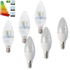 12/6x E14 5W/8W Regulable Lámpara de araña Led Vela Bombilla Frío Cálido Blanco