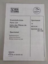 Teilekatalog / Ersatzteilliste Fahrrad Spartament mit Sachs-Hilfsmotor 301/A