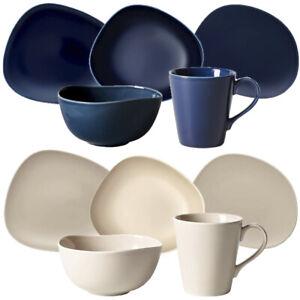 Like by Villeroy & Boch 10 tlg. Organic Set Tafelservice Geschirrset Blue & sand
