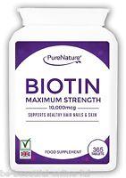 365 Pure Biotin Max Strength 10,000mcg Healthy Hair Skin Nails Vegetarian Tabs