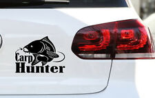 Angler autocollant CARPE sticker pêcher fishing voiture Bus Camping-car H 15 x 21 B