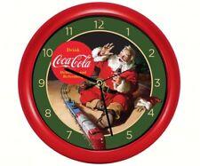 Coca-Cola Santa with Train Clock