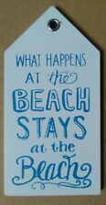 What Happens At The Beach Stays At The.. - Wooden Beach Hut Themed Fridge Magnet