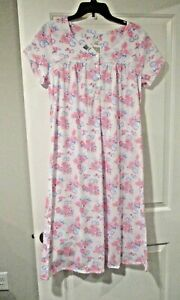 Aria womens short sleeve ballerina length nightgown size Medium