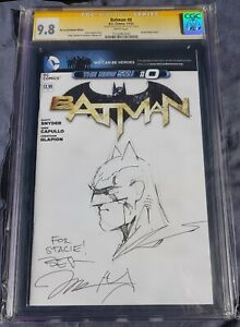 Batman #0 CGC 9.8 SS Signed and Sketch By Jim Lee
