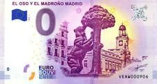 ESPAGNE Madrid, El oso el madroño, N° de la 10ème, 2018, Billet 0 € Souvenir