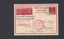 Daw Switzerland Zeppelin Stationery Postcard 1930 Romanshorn to Lakehurst Lot 4
