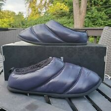 SOREL Hadley Puffer Navy Slippers Faux Fur Lining Womens Size 9 NL3330-010