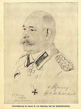 Fritz Wolff * Dr.von Schjerning Chef d. Feldsanitätswesens 1916 * WW1