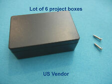 Plastic Project Box Enclosure DIY Case Black, 55x35x20mm, with screws, Lot of 6