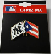 MLB NEW YORK YANKEES & PUERTO RICO FLAG PIN
