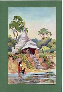 Mandalay, Pagoda on the Irrawddy, Burma,  Postcard
