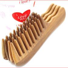 Women Handmade Wooden Natural Sandalwood Wide Tooth Combs Massage Hair Care AU