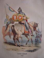 Gravure d'un CAVALIER NORMAND en 1066