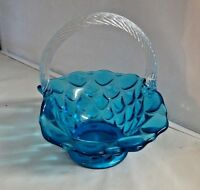 Mosser Glass Colonial Blue Elizabeth Basket