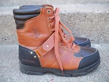 EUC US POLO Men's Hiking Leather Boots Shoes Size 9.5 Brown Trail Backpacking