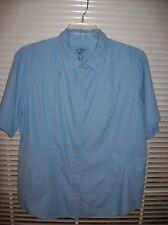 Reel Legends Short Sleeved Shirt Womens Size M BLue