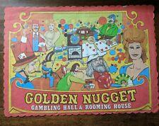 Vintage Golden Nugget Casino Las Vegas Gaming Hall Souvenir Placemat 1950s