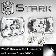 H6054 H6052 H6014 Head Light Glass Diamond Housing Lamp Conversion Chrome 7x6