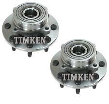 Pair Set 2 Front Timken Wheel Bearing Hub Kit for Dodge Ram 2500 4WD 2Wheel ABS