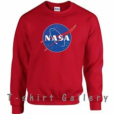 NASA SPACE ASTRONAUT- GEEK NERD STAR LOGO LADIES MEN GIFT SWEATSHIRT TOP JUMPER