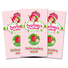 10 Strawberry Shortcake Personalized Birthday Party Favors Scratch Off Games
