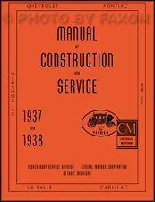 1937 1938 Chevrolet Car Body Repair Manual 37 38 Chevy Fisher Shop Service