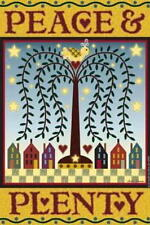 New listing 2 Peace & Plenty Garden Flags By Jeremiah Junction (New) Sale!