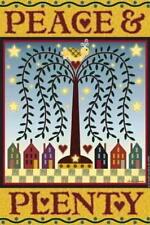 Jeremiah Junction PEACE & PLENTY Small GARDEN FLAG (NEW)