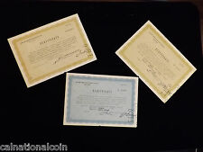 New listing 1947 Swiss Compensation Zurich 3 Certificates 10 Shares Pennsylvania R. R. Co.