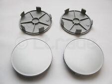 4x Nabenkappen Felgendeckel Nabendeckel Ø 68mm-65mm Silber Felgenkappen NEU