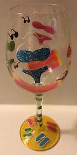 Lolita Bikini Hand Painted Wine Glass w/ Recipe on Bottom 15Oz NIB Love My Wine