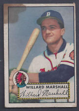 1952 Topps #96 Willard Marshall Outfield Boston Braves Good