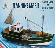 "Brand new wooden model ship kit by Soclaine: the ""Jeannine Marie"" Sardine Boat"