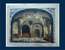 Grande image Epinal fond de théâtre pour enfants amovible XIXème (2)