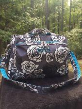 JU JU Be, BE PREPARED Bag in Charcoal Roses Print. USED $75 OBO