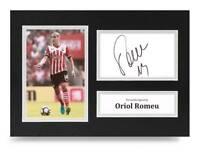 Oriol Romeu Signed A4 Photo Display Southampton Autograph Memorabilia + COA