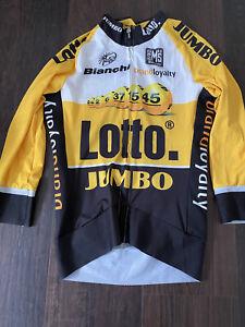 Santini Lotto Jumbo Rider Issued Aero Jersey Flanders Roubaix Yellow