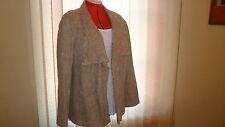 NWT CONRAD C by LAURA PLUS long sleeve lined beige jacket/blazer size 24W