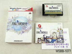 Complete Final Fantasy 4 WonderSwan Color Japanese Import FF IV WS WSC US Seller
