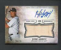 2015 Topps Triple Threads JOSE ABREU Autograph Bat Relic 28/75