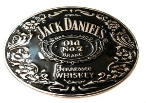 SL1 Jack Daniels Old No. 7 Belt Buckle Western Cowbow black and silver color USA