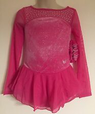 Figure Skating New Competition Dress Child M 8 Ice Skate Pink Nwt Justice