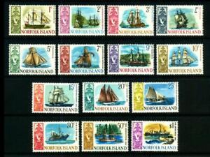 British NORFOLK ISLANDS Scott 100-113 QEII YACHTS & SHIPS MLH SG 77-90 Lot Q-446